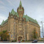 Parlementsgebouw van Ottawa, geschilderd met Allback lijnolieverf.